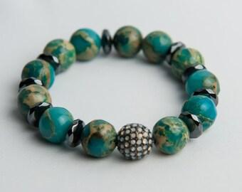 Blue African Opal Bracelet