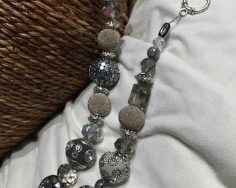Grey Metal Party Necklace