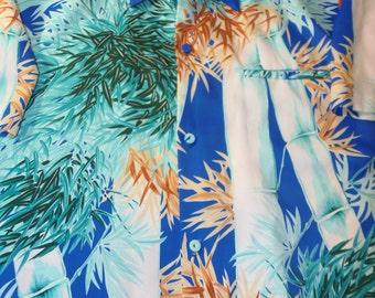 Vintage hawaiian shirt real vintage hawaiian sears hawaiian shirts XL adult vintage shirts multi colored surf shirt vacation clothes