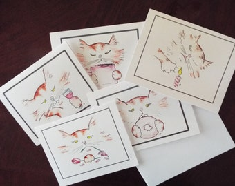 Assorted Cat Note Cards
