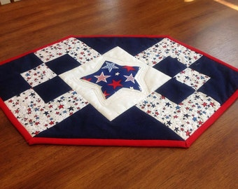 All American Quilted Table Runner