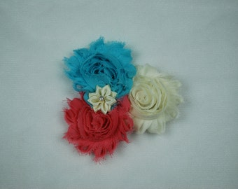Interchangeable Shabby Flower Clips