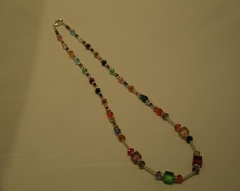 Necklace. Swarovski Crystals. Sterling Silver.