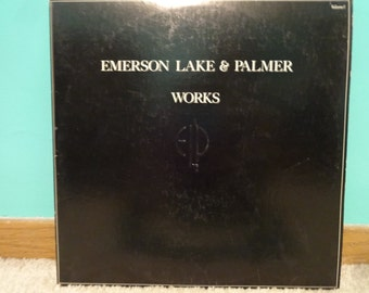 Emerson, Lake, & Palmer Works Volume 1 LP 1977 Atlantic Records