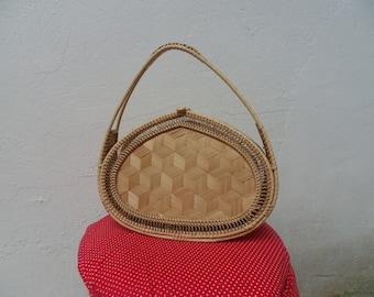 Wicker handbag,Wicker purse, wicker handbag, wicker basket bag, vintage wicker purse, vintage wicker basket bag
