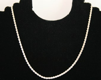 Sterling silver spiral chain 20 inches i-1392