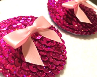 Sequin Pasties - Pink
