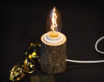 Wood lamp - Rustic lamp - Edison lamp