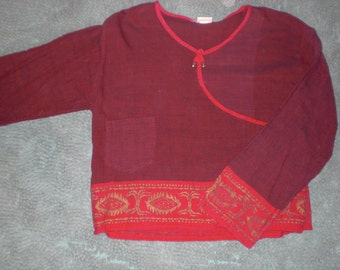 100% Cotton Boho top- Made in Nepal