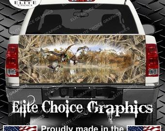 Mallards Duck Tallgrass Duck Camo Truck Tailgate Wrap Vinyl Graphic Decal Sticker Wrap