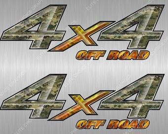 4x4  Digital Marine Camo Camouflage Truck Bed Vinyl Decal Sticker - PAIR