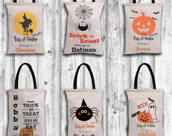 Personalized Halloween Bag-Trick or Treat Bag-Halloween-Personalized Trick Or Treat bag-Halloween Sack-Trick or Treat-Candy Bag-Candy-Sack