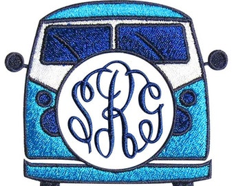 VW Volkswagen Bus Van Embroidery Monogram Frames Designs