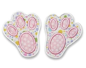 Easter Bunny Feet Applique Embroidery Design