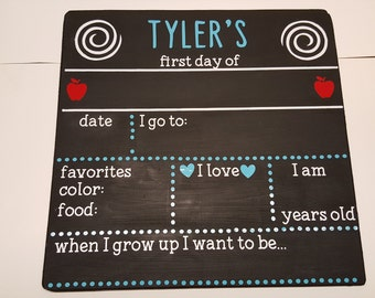 1st Day of School Chalkboard Photo Prop
