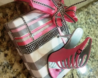 Pink & Grey Heels