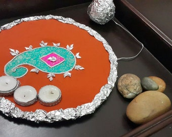 Mehndi,  Henna Plate, Indian Wedding Accessory,  Indian gift, Indian Wedding Decorations