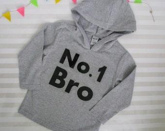 Big Brother Hoodie Number 1 Bro Long Sleeved Hoodie Pull Over Shirt