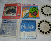 Lot of Vintage Viewmaster reels - The Incredible Hulk, Rudolph Shines Again, and The Christmas story - GAF 3D View-Master         43-5