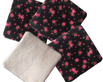 Lot of 4 wipes washable soft Pretty