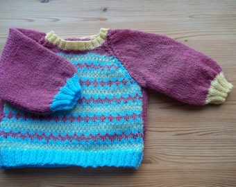 Jumper with fair isle front