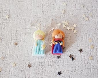 Elsa - Anna earrings / handmade.