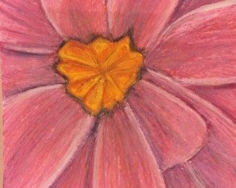 Pink Flower Pastel