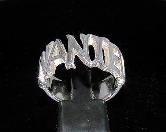 Sterling silver ring Wanted one word - letter ring