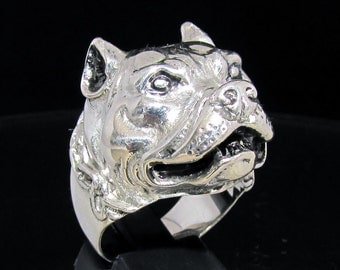Sterling silver Animal ring Pit-Bull Terrier