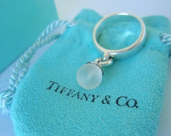 Tiffany & Co. Fascination Ring Dangling Crystal Ball Size 5.5