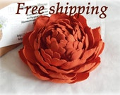 Red peony FREE SHIPPING Hair clip Brooch Peony flower Wedding hair flower Hair pins Large red flower Hair Piece Clip Gift for woman Hair Pin