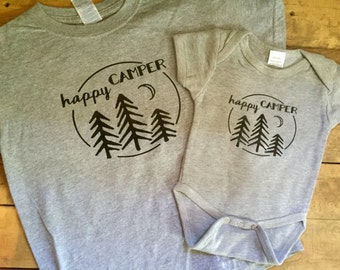 Happy camper tshirt or onesie
