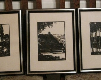 Reduced! Silhouettes, CUT OUT Silhouettes, Vintage Silhouettes, Scenery Silhouettes, Man Cave Art