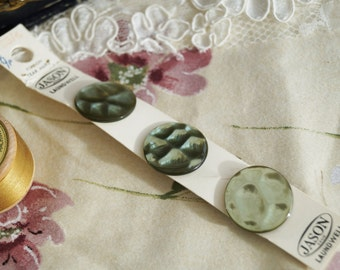 Unused Classic Vintage Buttons, On original card, for vintage sewing, knitting and crafts