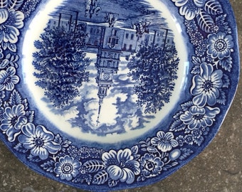 Staffordshire Liberty Blue Plate