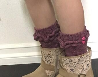 Ruffled Boot Sock