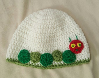 Hungry Caterpillar inspired crocheted hat