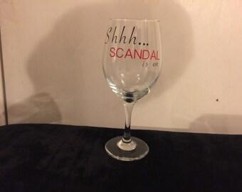 SCANDAL Wine Glass