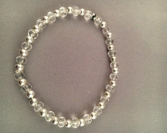 Silver Seed Beaded Bracelet