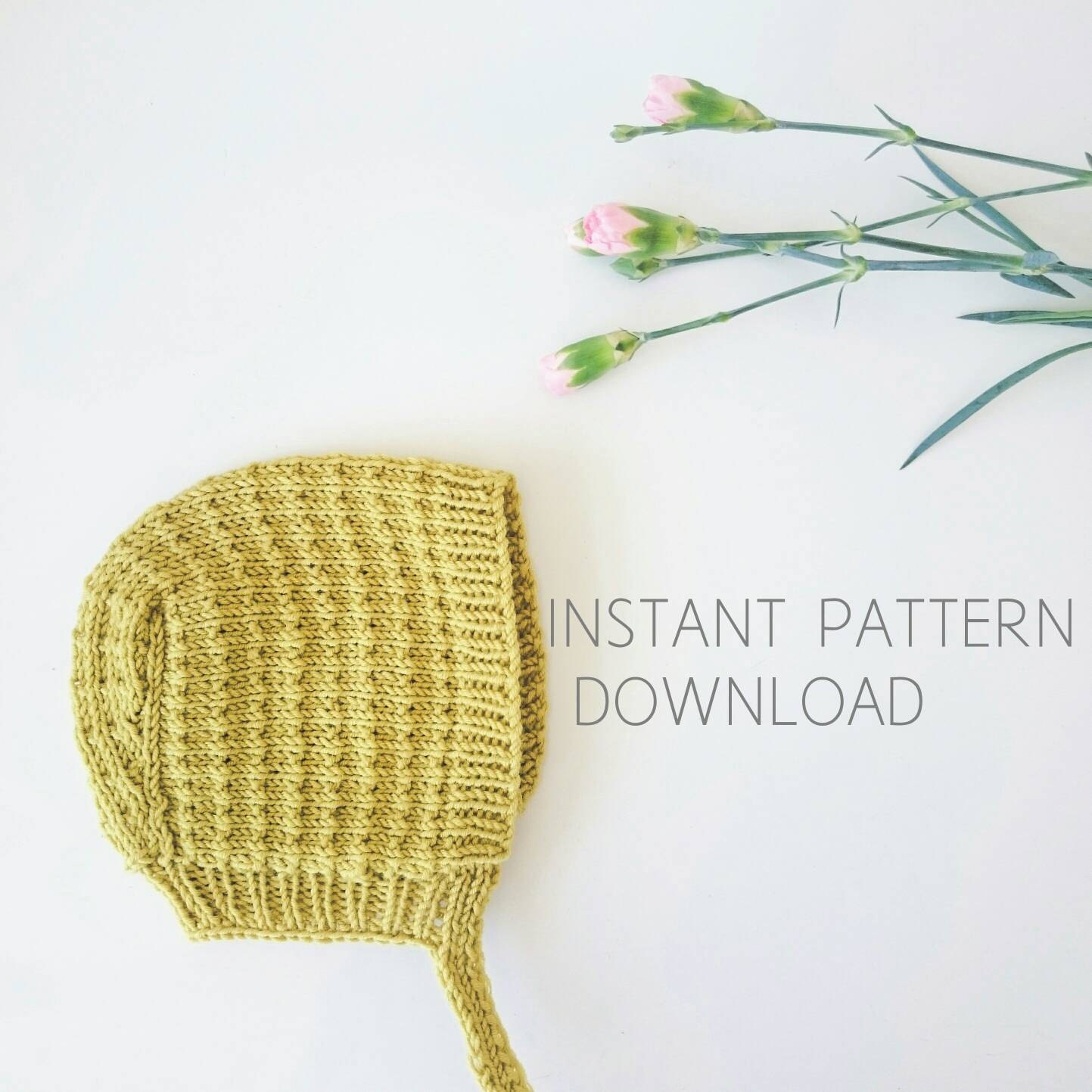 Baby bonnet knitting pattern Astrid pdf download