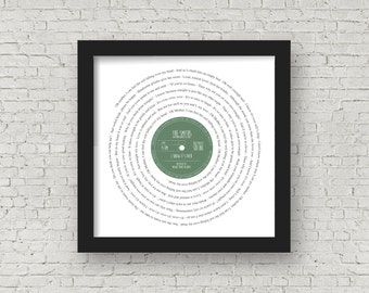 Framed Lyrics Manchester Bands The Smiths PERSONALISED LABEL - wedding first dance,your song, anniversary romantic mother's day father's day