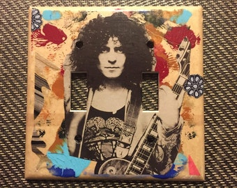 Marc Bolan collage with paint