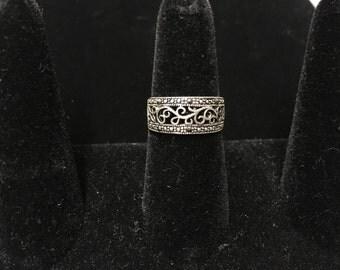 Vintage Ring, 925, Filagre, Vine Pattern