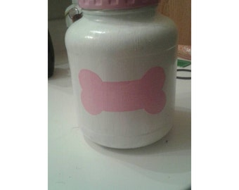 Dog treat jar for a girl