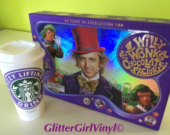 Willy Wonka & the Chocolate Factory Personalized Customized Fizzy Lifting Drink Starbucks Cup