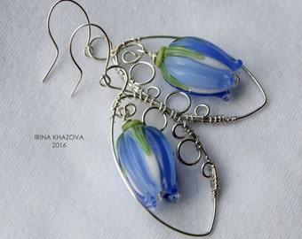 Morning dew, earrings