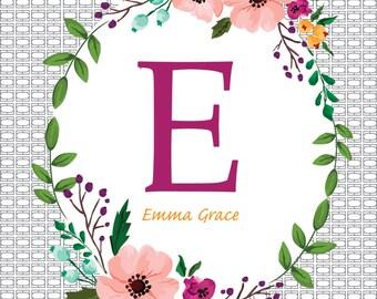 Floral Name Design- Printable