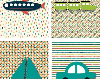 Planes, Trains, & Automobiles! (4 piece set)