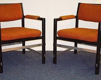 Edward Wormley armchairs by Dunbar