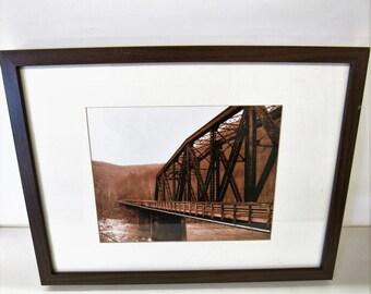 Sepia Colored Bridge Print